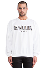 Ballin Sweatshirt in White/Black