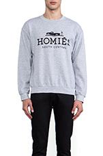 Homies Sweatshirt in Heather Grey/Black