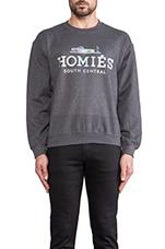 Homies Sweatshirt in Charcoal/Hologram