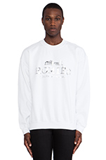 Homies Sweatshirt in White/Silver