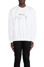 Homies Sweatshirt in White/Silver