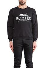 Homies Sweatshirt in Black/White