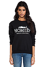 Homies Sweatshirt in Black/White