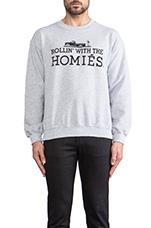 Rollin' with the Homies Sweatshirt in Heather Grey/Black