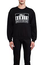 Homies Advisory Sweatshirt in Black & White