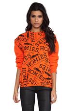 Homies Graffiti Sweatshirt in Orange/Black