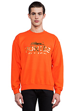 Homies Sweatshirt in Orange/Gold-Foil
