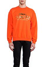Homies Sweatshirt in Orange/Gold-Foil