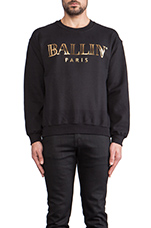 Ballin Sweatshirt in Black/Gold Foil