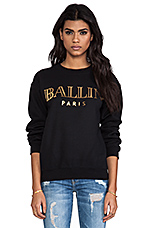 Ballin Sweatshirt in Black/Gold Foil