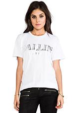 T-shirt Ballin en Blanc/Argenté