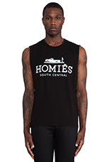 Homies Muscle Tee in Black & White