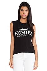 Homies Muscle Tee in Black & White