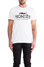 Homies Tee in White/Black