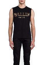 Ballin Muscle Tee in Black/Gold Foil
