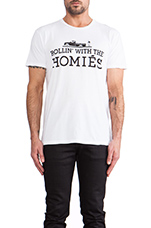 Rollin' with the Homies Tee in White & Black
