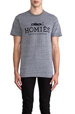 Homies Tee in Heather Grey/Black