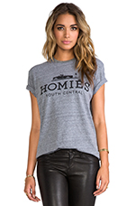 Homies Tee in Heather Grey/Black