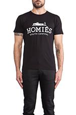 Homies Tee in Black & White