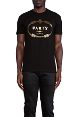 Party Animal Tee in Black
