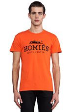 Homies Tee in Orange