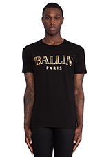 Ballin Tee in Black & Gold Foil