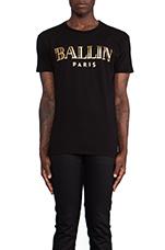 Ballin Tee in Black & Gold Foil