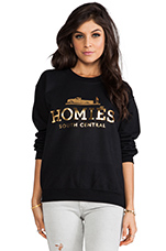 Homies Sweatshirt in Black/Gold