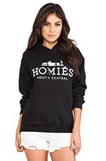 Homies Hoodie in Black/White