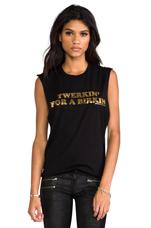 Twerkin' for a Birkin Muscle Tee in Black/Gold Foil