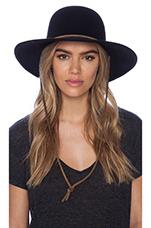 Tiller Wide Brim Hat in Black