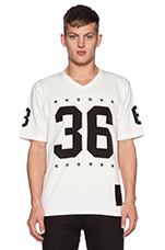 Blvck Football Jersey in White