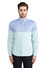 Oxford Button Down in Green/Blue