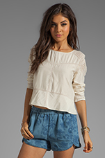 Calas Top in Off White