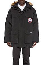Expedition Parka with Coyote Fur Trim in Black