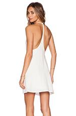 Y-Back Dress in Cream