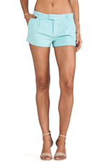 Pleated Trouser Short in Seafoam
