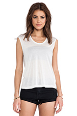Capped Sleeve T-Shirt in White