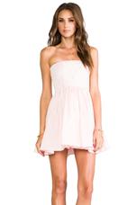 Lux Strapless Dress in Peach