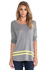 Intarsia Sweater in Heather Grey