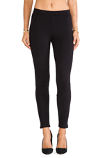 Ottoman Stitch Ponte Leggings in Black