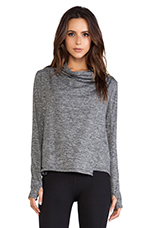 Shape Wrap Jacket in Charcoal Heather