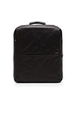 Rhine Flat Backpack in Coated Canvas Black