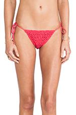 Croche T Side Bikini Bottoms in Pink