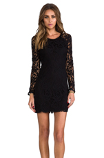 Harlem Square Lace Dress in Black