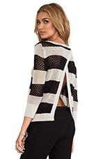 Borneo Striped Pullover in Stone & Black