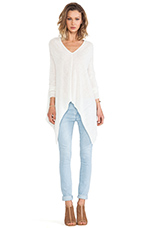 Santiago Asymmetric Hem Sweater in Chalk