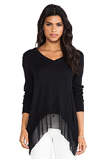 Rye V Neck Sweater in Black