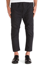 Baron Elastic Slouch Pant in Charcoal Spec