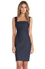 Struck Dress in Rinsed Blue